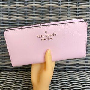 Kate Spade staci large slim bifold wallet  saffiano